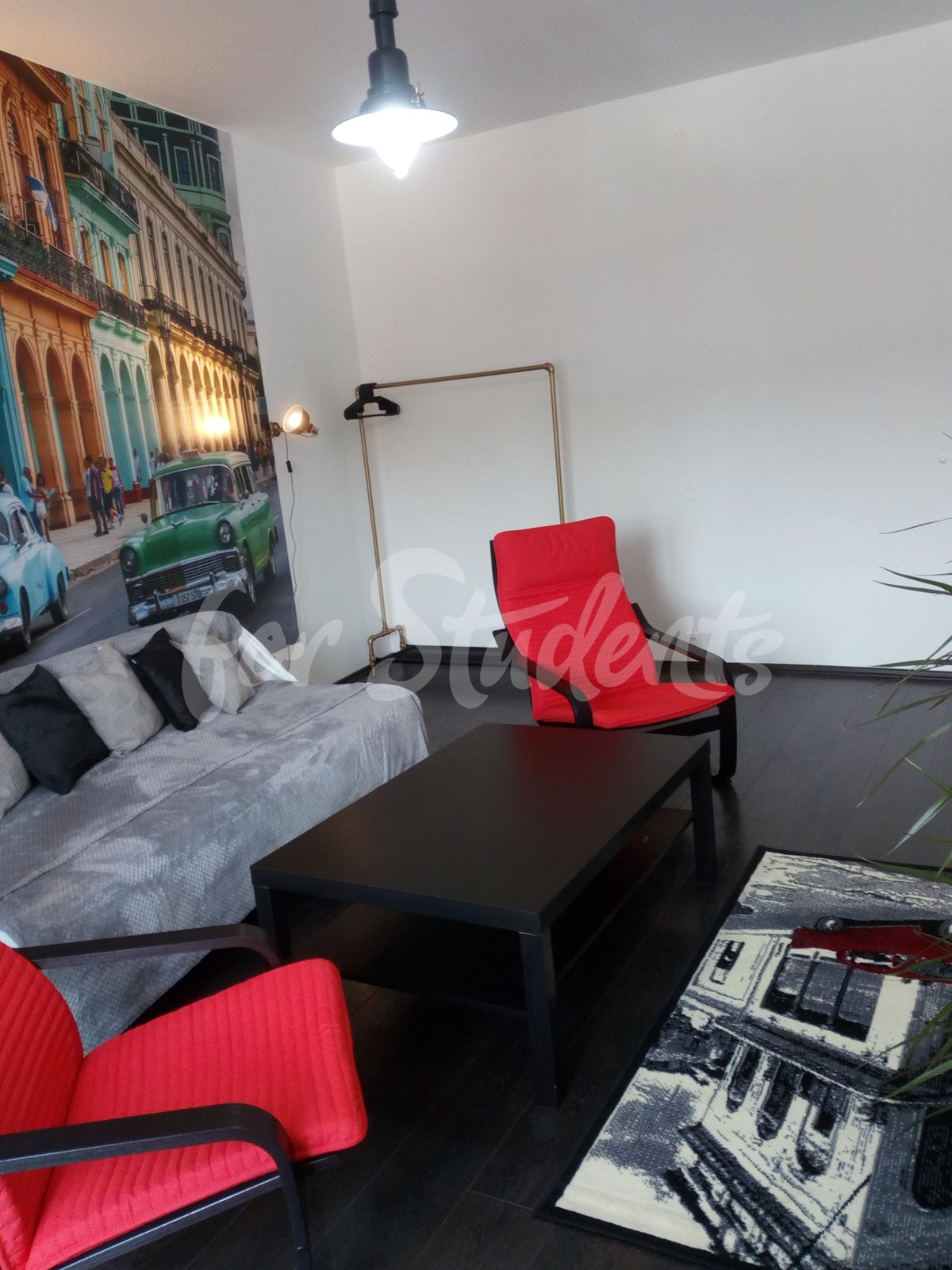 Three rooms available in three bedroom apartment -