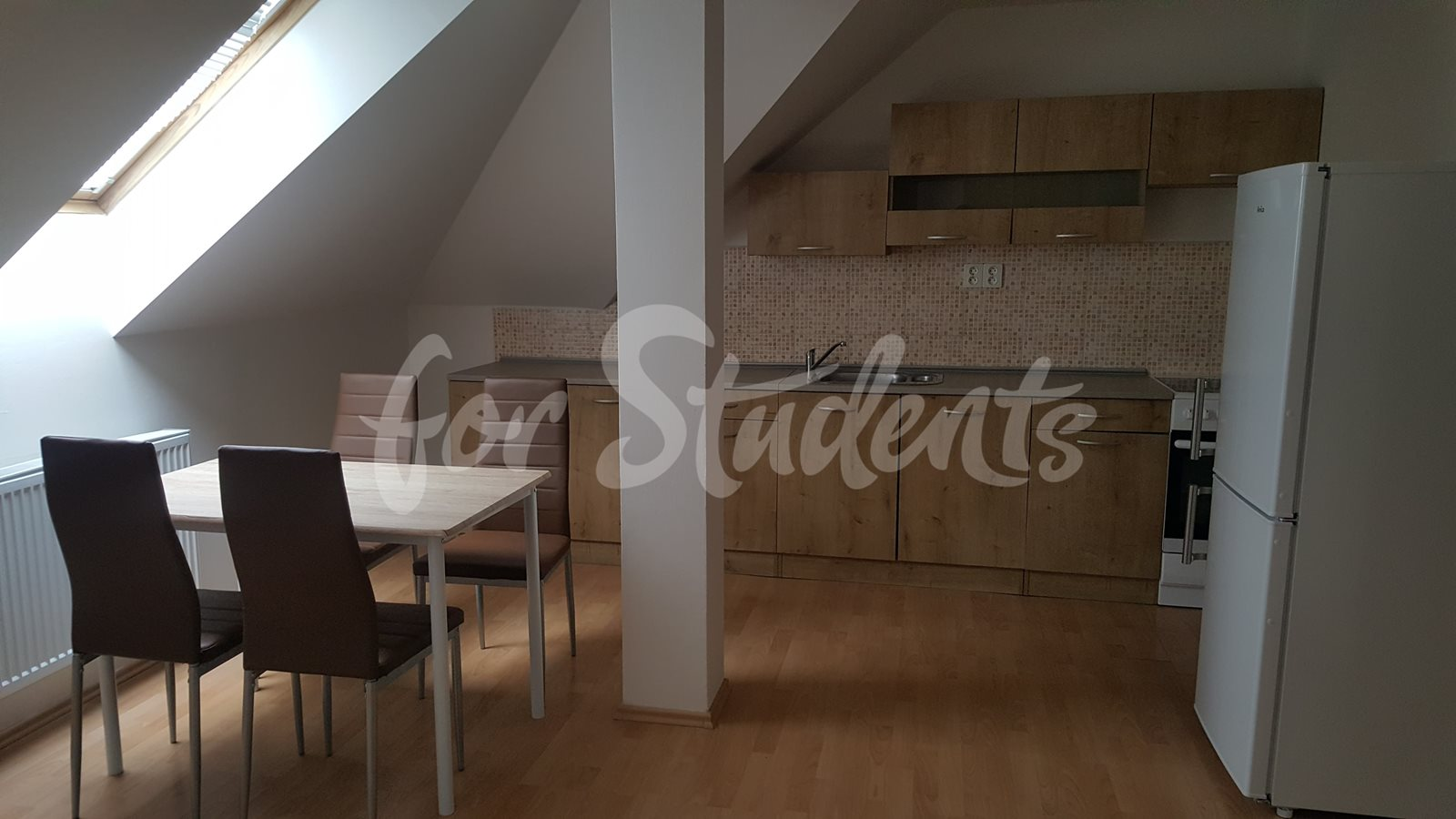 Three spacious rooms available in an apartment next to Atrium in new student´s residence